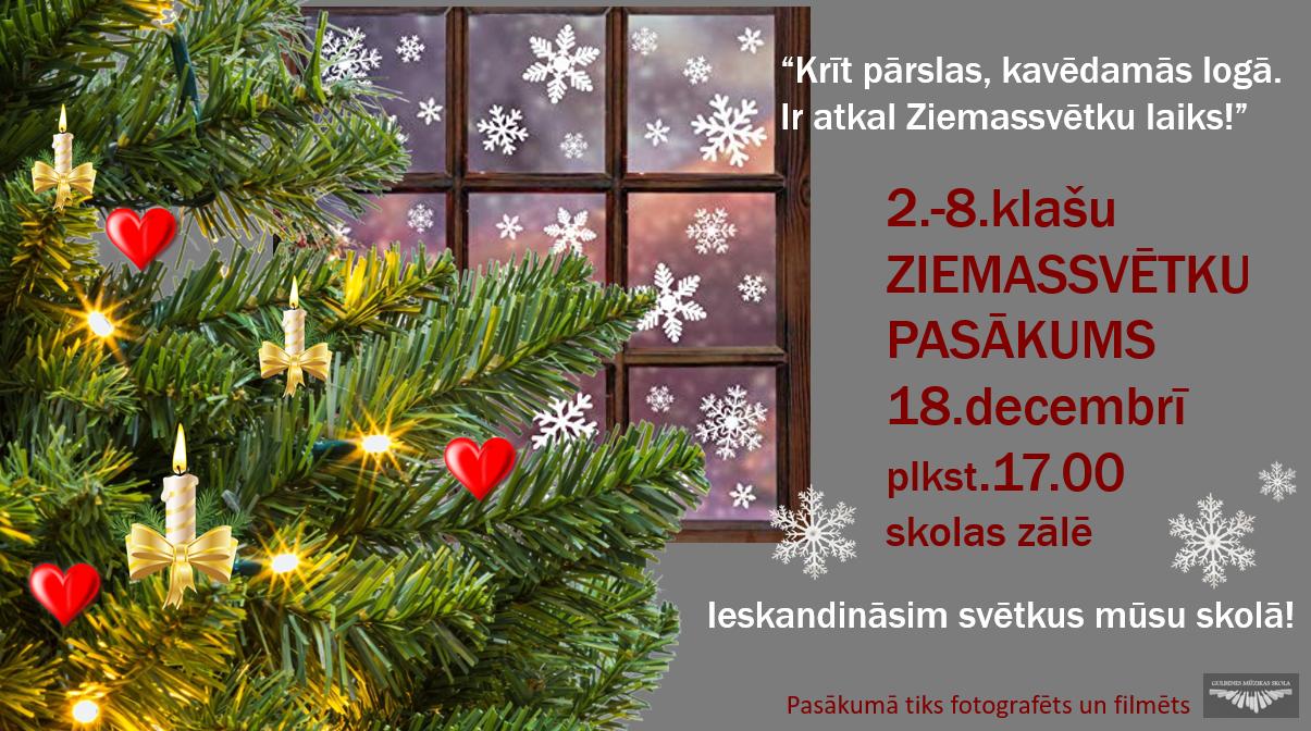 Ziemassvētku koncerts-pasākums 2.-8.klašu audzēkņiem