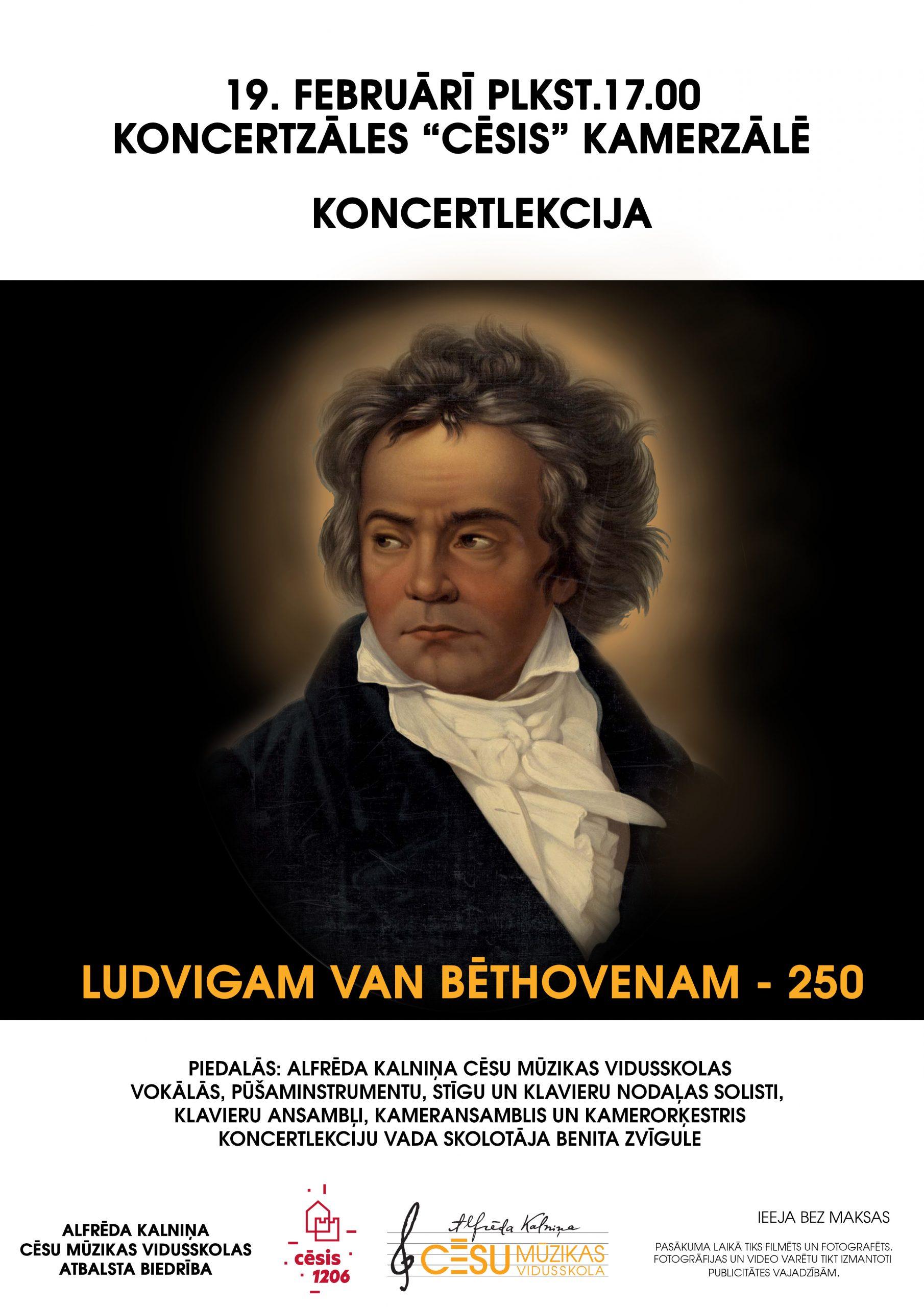 "Koncertlekcija ""Ludvigam van Bēthovenam – 250"""