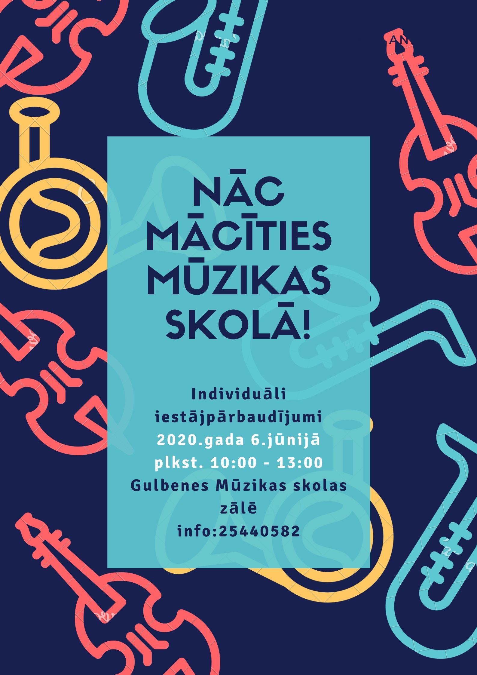 Uzņemšana mūzikas skolā 2020./2021.mācību gadam!
